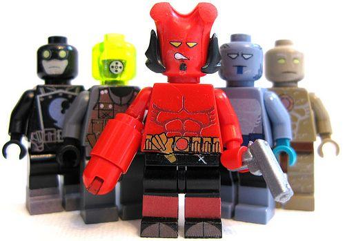 Custom Hell Boy Hero DC Minifig Minifigure Mini Figure Blocks Toys