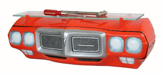 1968 Pontiac GTO LED Clock Car Man Cave Game Room Wall Lighted Nostalgic
