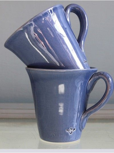 Miel Mugs in Mid Blue
