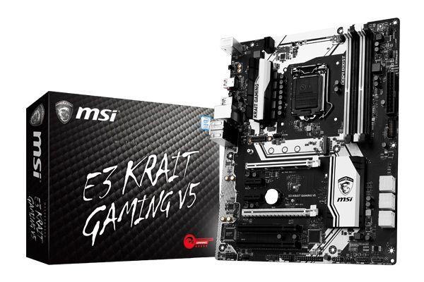 MSI launches E3 KRAIT GAMING V5 & E3M WORKSTATION V5