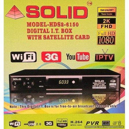 SOLID HDS26150 DVBS2 MPEG4 FullHD SetTop Box with