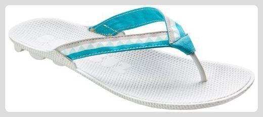 Boombuz Damen Zehentrenner, Modell Lolla half dressed 102-1-008, Mehrfarbig (grau/blau), EU 38 - Zehentrenner für frauen (*Partner-Link)