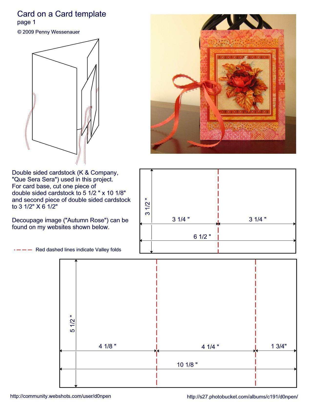 z fold card template