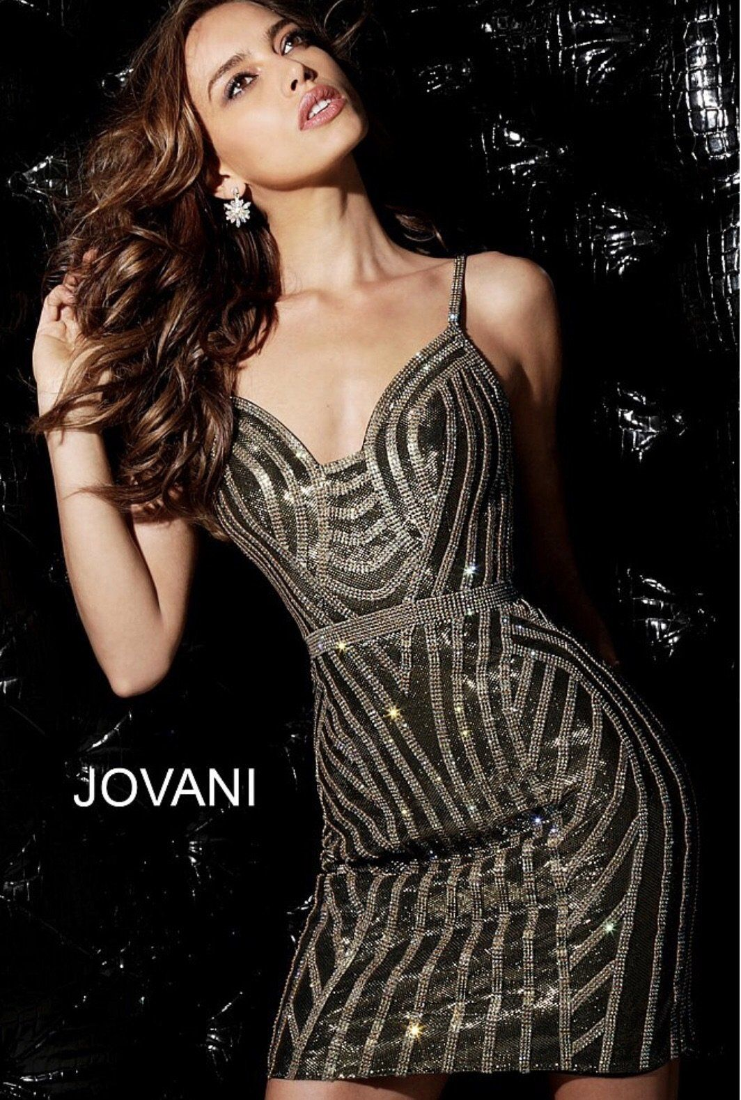 Gold embellished fitted cocktail dress products pinterest