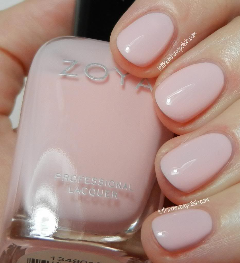 Zoya Dot Is A Clic Ballerina Pink Creme Jelly Even Though It Really Sqishy In Finish The Formula Was Fairly Opaque And Easy To Work With