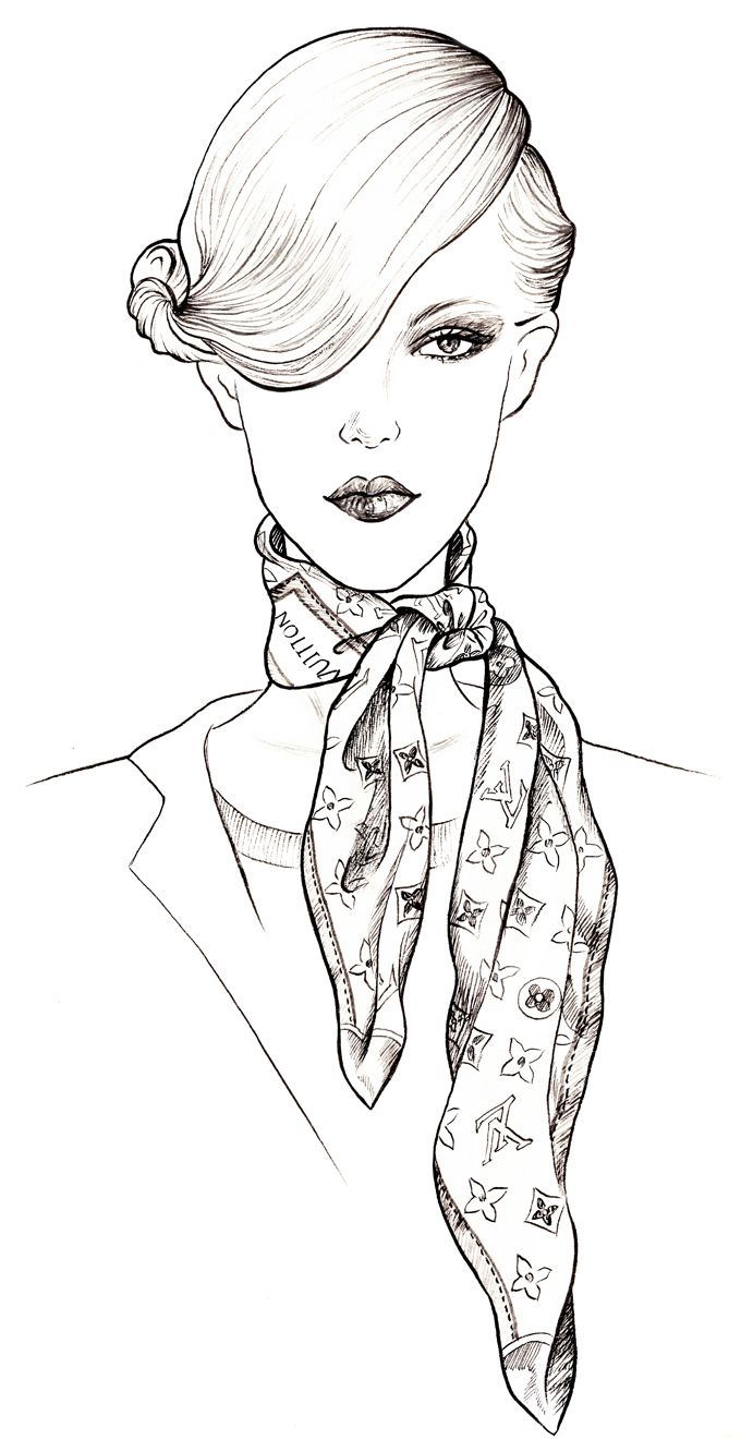 Louis Vuitton Scarves Sunny Gu Coloring Pages Adult