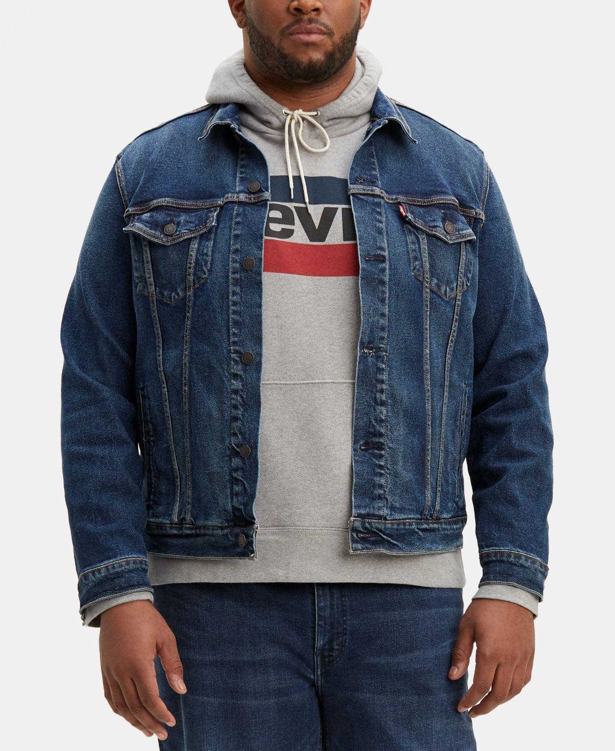 Levi S Men S Big Tall Stretch Denim Trucker Jacket Reviews Coats Jackets Men Macy S Mens Big And Tall Trucker Jacket Stretch Denim [ 1466 x 1200 Pixel ]