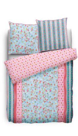 PIP 8715944067782 Bettwäsche - Chinese rosa 135 x 200 cm und 80 x 80 cm, Baumwolle blau (blue): Pip: Amazon.de: Küche & Haushalt