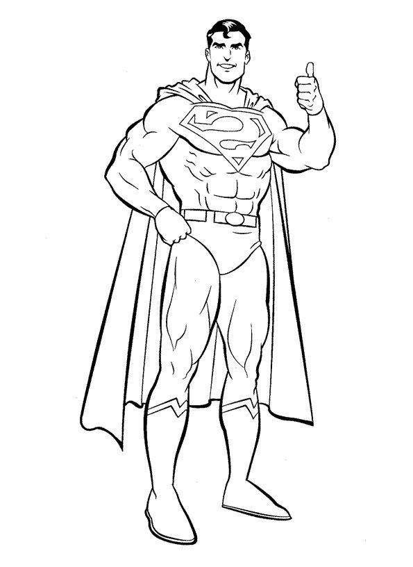 Cool Superman Coloring Page Kleurplaten Superhelden Superman
