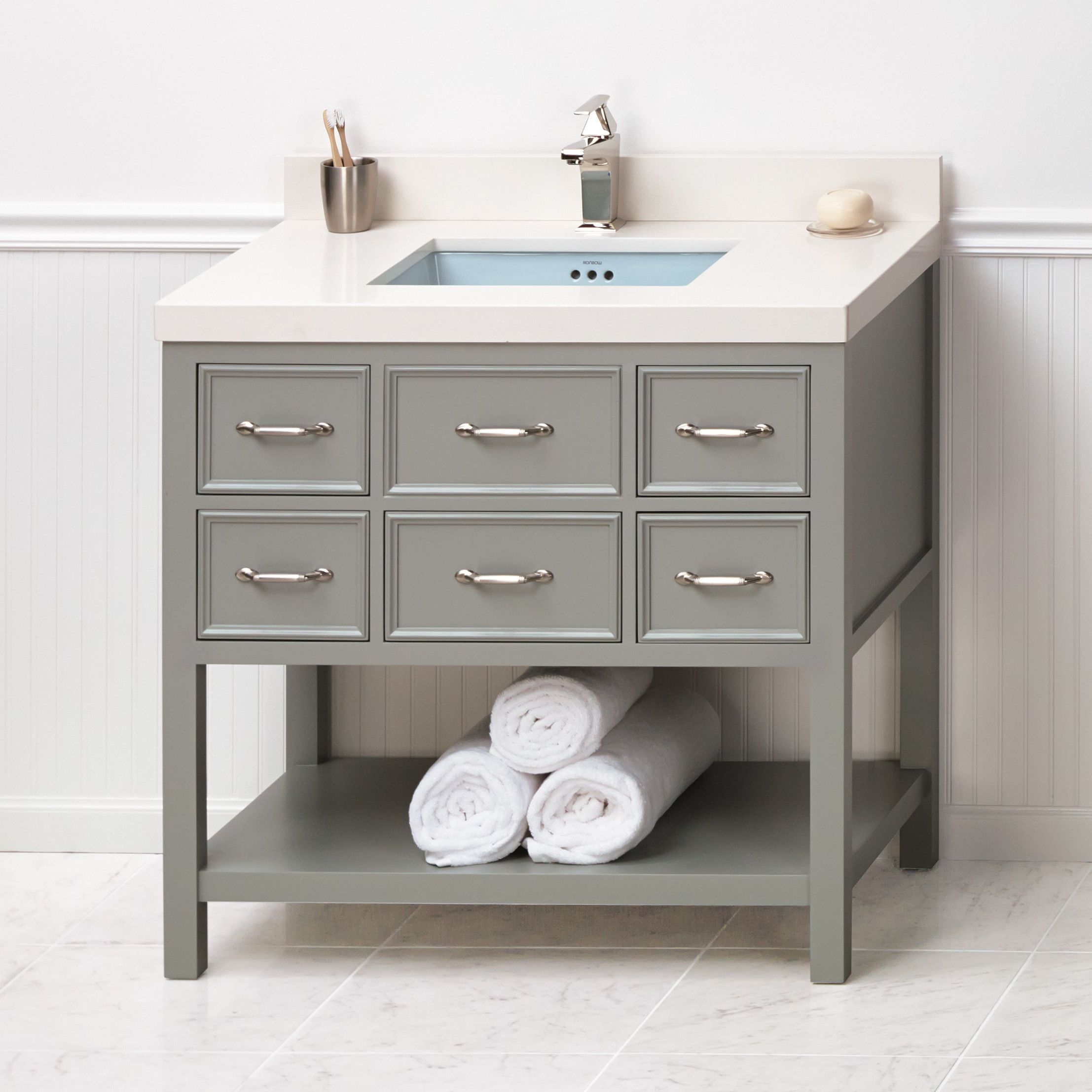 Best Newcastle 36 Single Bathroom Vanity Base Only Bathroom 400 x 300