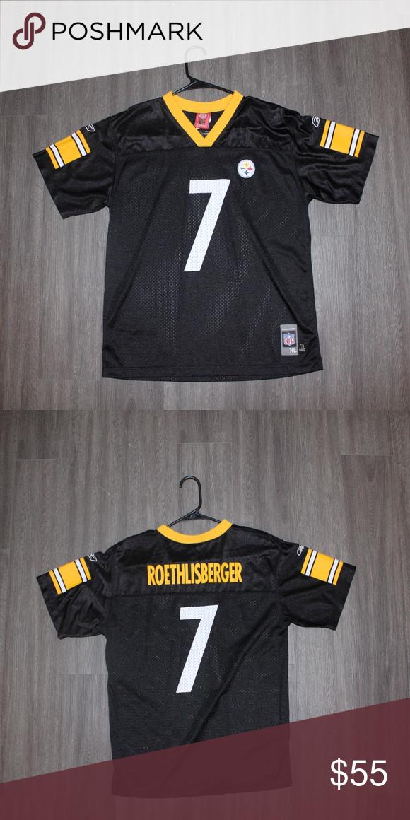 lowest price be1fc 0bf36 Ben Roethlisberger (#7) Vintage Jersey Vintage Reebok Ben ...