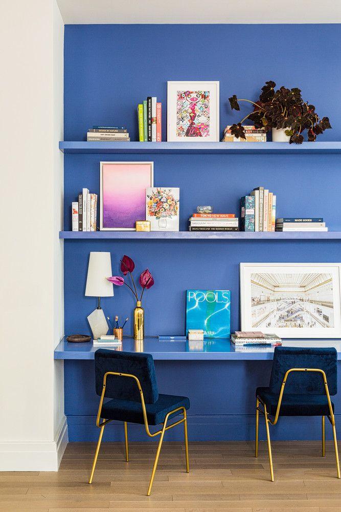 Coin Bureau Petit Espace 100 barclay nyc apartment design - layout, styling ideas   blue