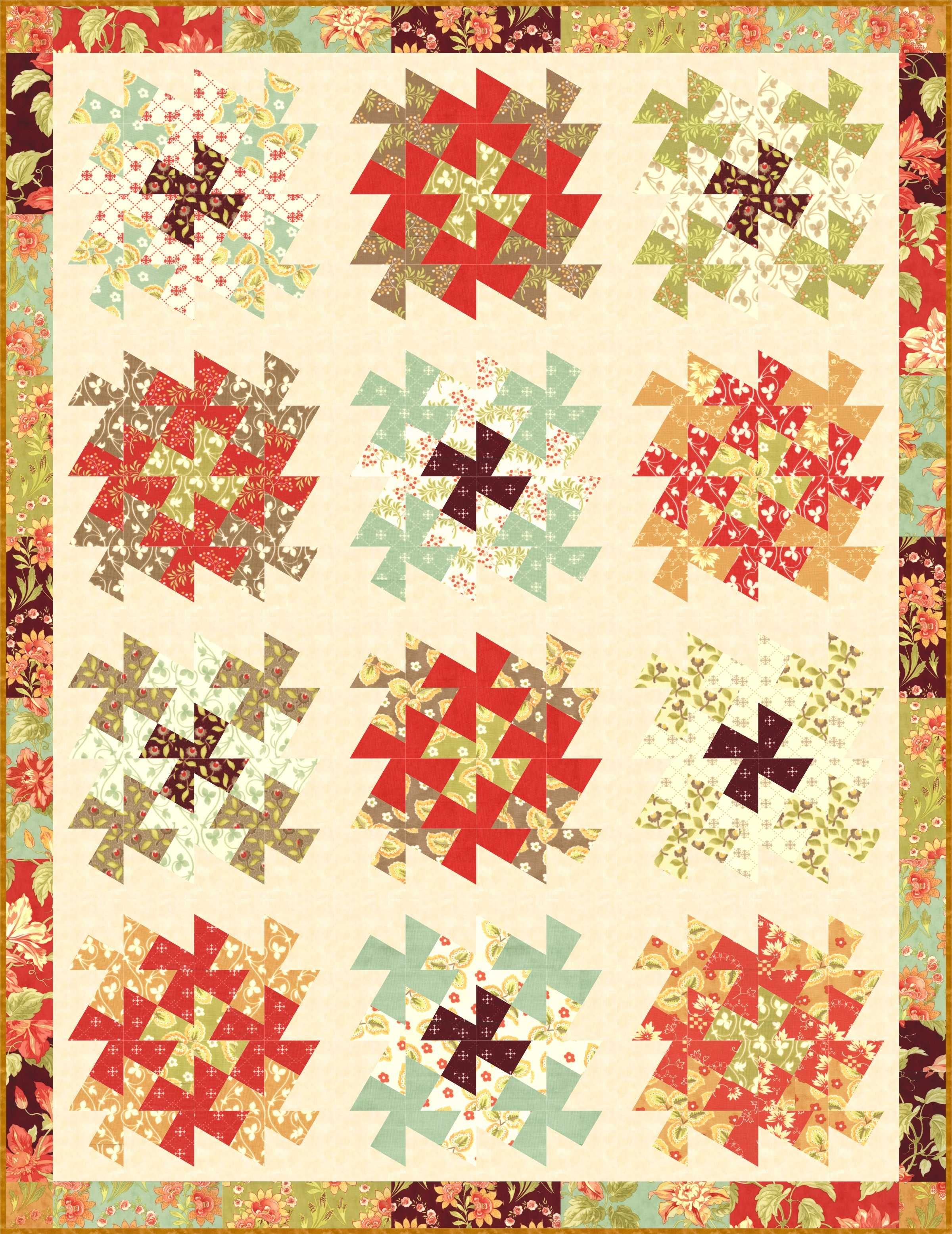 Pinwheel Patterns for Lil' Twister and Twister Tool | Twister ... : twister quilt ruler - Adamdwight.com