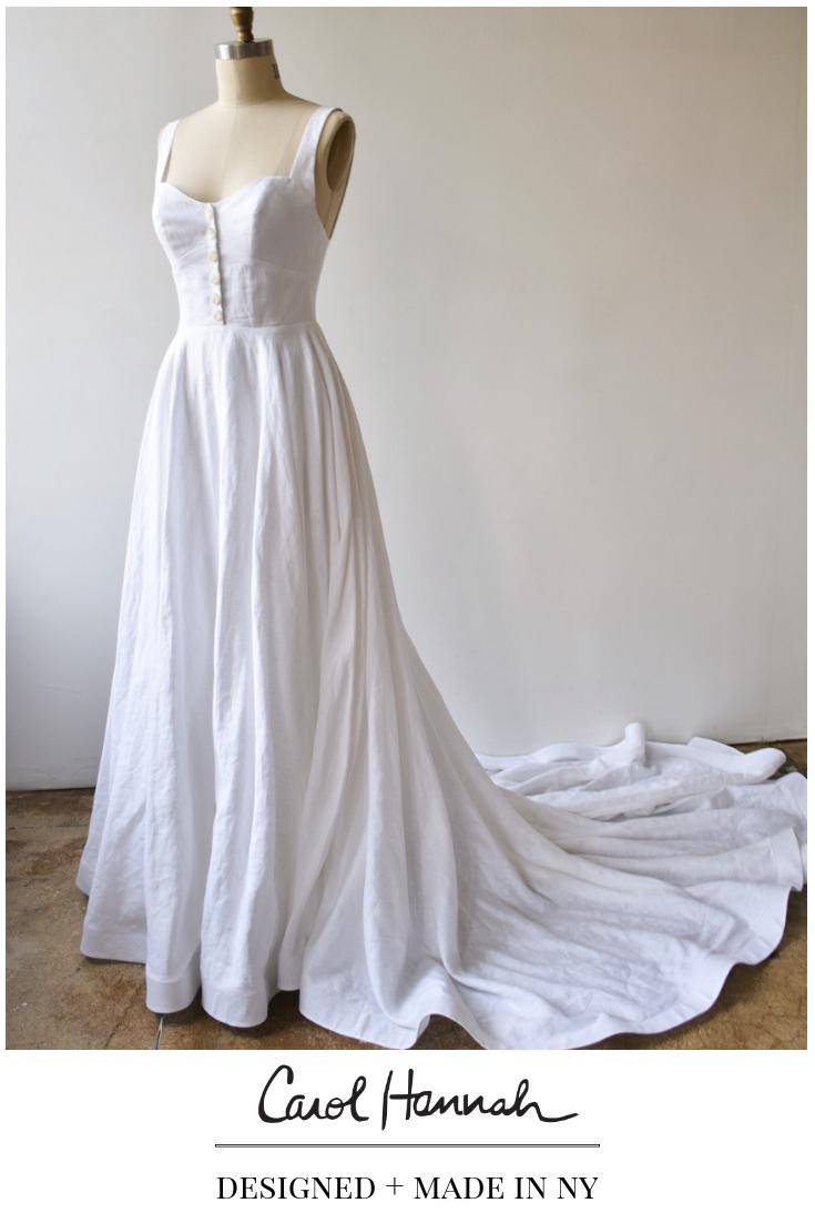 Sable Gown Irish Linen Linen Wedding Dress Wedding Dress With Pockets Unique Wedding Gowns