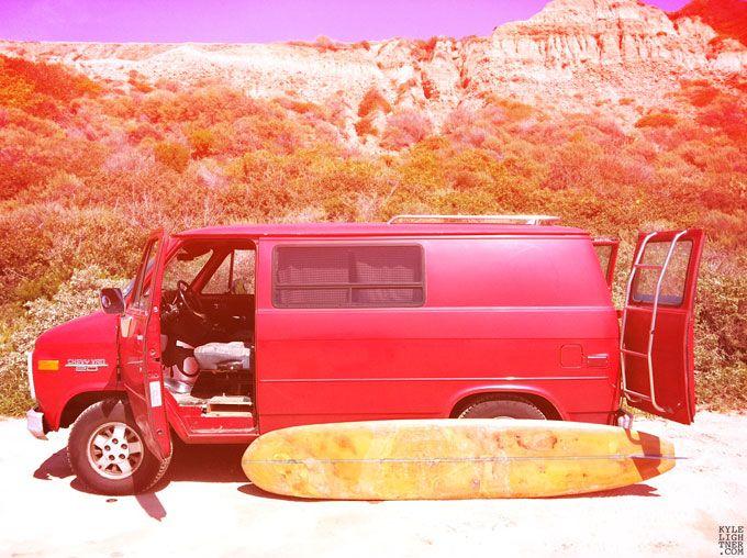 Red Chevy Van