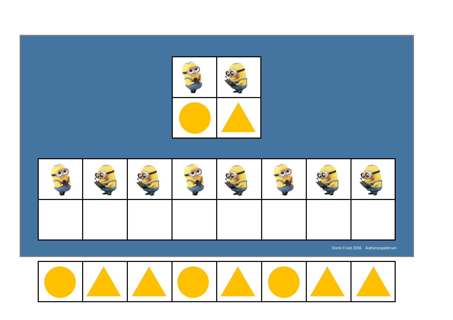 Board And Tiles For The Minions Visual Perceptiongame By