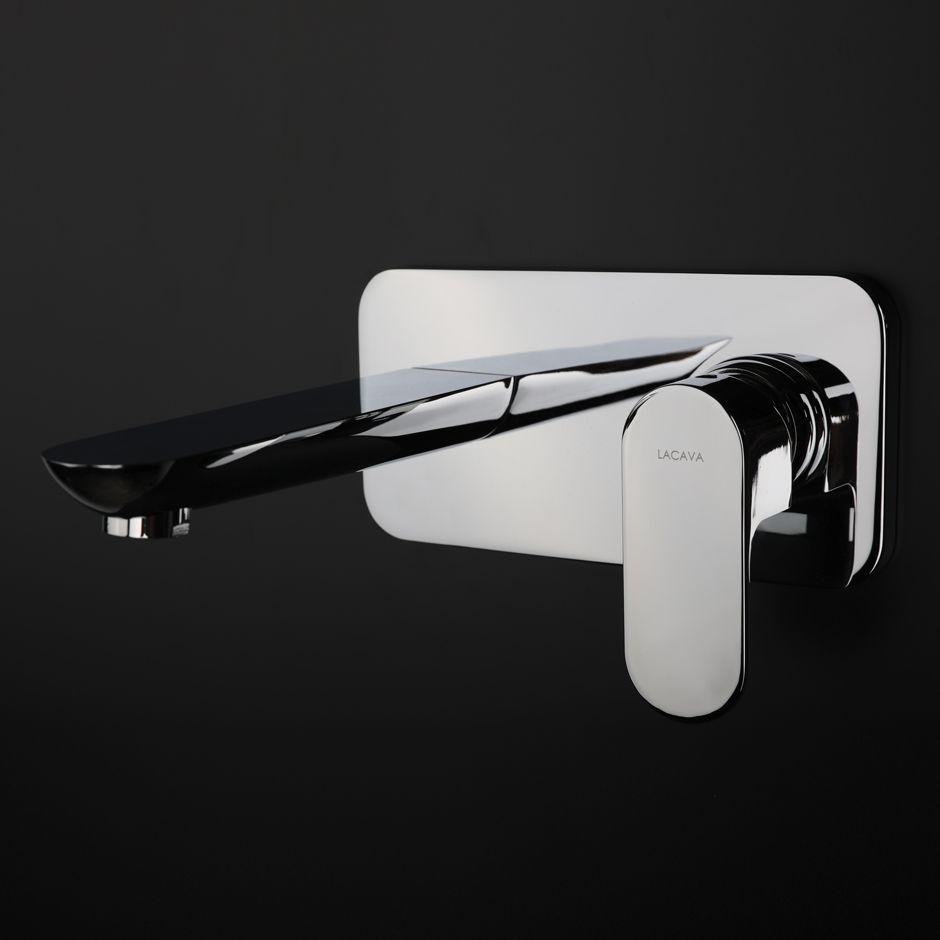 Flou wall-mount faucet... - - #faucet #wallmount #polishedchrome ...