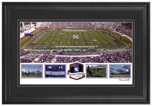 Ryan Field Northwestern Wildcats Framed Panoramic Collage-Limited Edition of 500