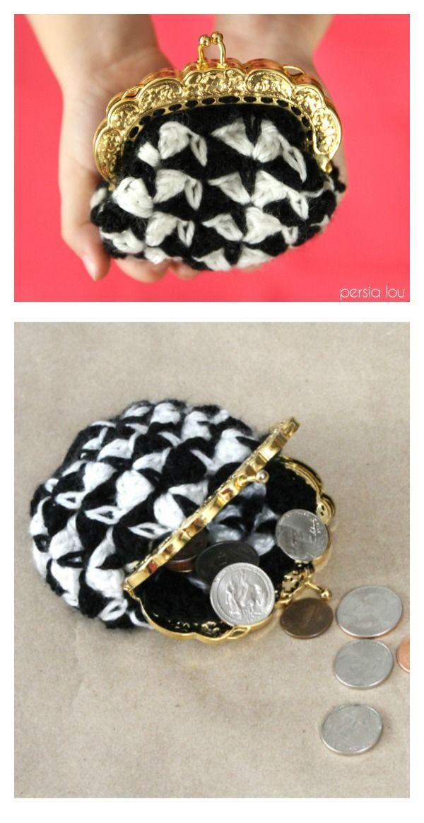 Crocheted Coin Purse Free Patterns | Amrum und Wolle