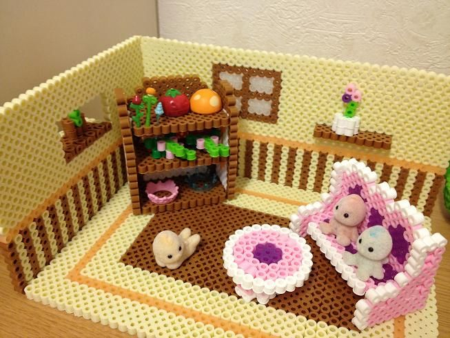3D Doll furniture perler beads