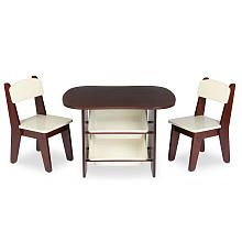 Imaginarium Table and 2 Chair Set - Espresso  sc 1 st  Pinterest & Imaginarium Table and 2 Chair Set - Espresso | Tables and chairs ...
