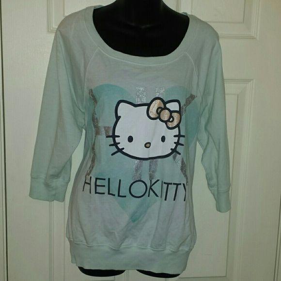 Hello kitty shirt Pale green hello kitty shirt Hello Kitty Tops Sweatshirts & Hoodies