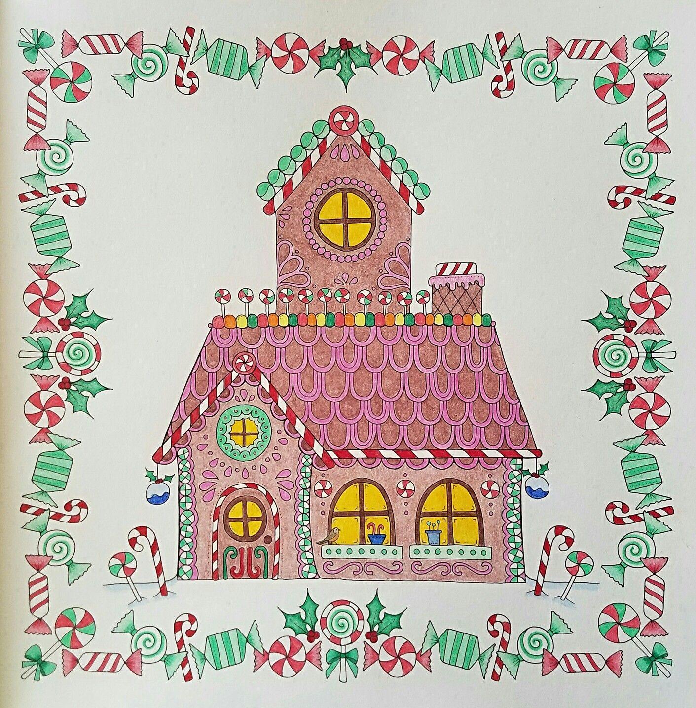 Gingerbread House from Johanna\'s Christmas by Johanna Basford ...