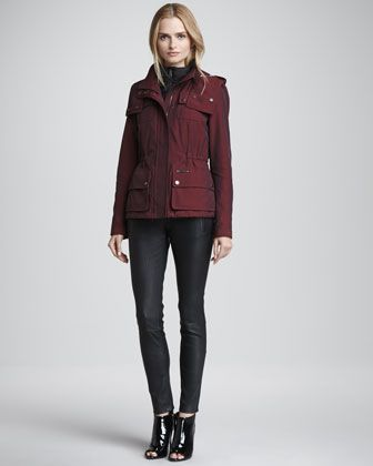 b9802421895d25 3-in-1 Puffer Jacket & Skinny Leather Leggings by Burberry Brit at Neiman  Marcus.
