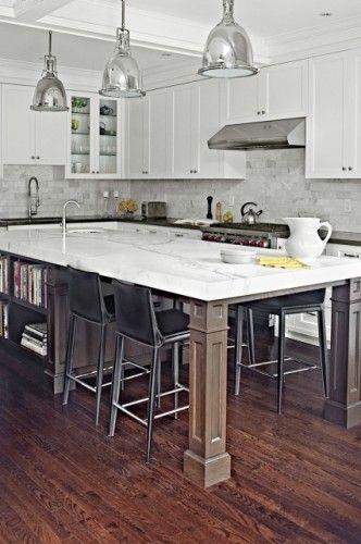 Long Kitchen Island Design Ideas Pictures Remodel And Decor Granite Kitchen Island Dream Kitchen Island Marble Kitchen Island