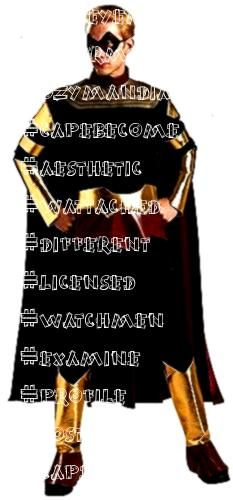 Watchmen Costume BeltEyemaskJumpsuit wattached Boot Tops and CapeBecome a member of the Watchmen in this licensed Ozymandias costume The adult co Informations About Ozyma...