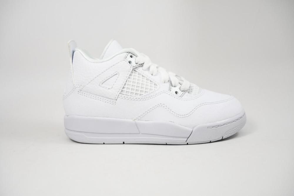 6a1b506603cfcb eBay  Sponsored Nike Jordan 4 Retro BP White Silver Pure Money lot 308499  100 Pre School Size 2