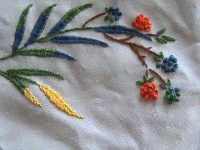 simple hand embroidery designs for tablecloth heres one