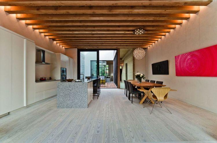 Offene Wohnküche modern gestalten & trennen Ideen für