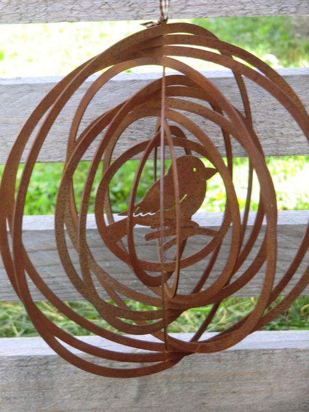 Vogel Mobile Hänger Edelrost,Windspiel,Gartendeko Von Little