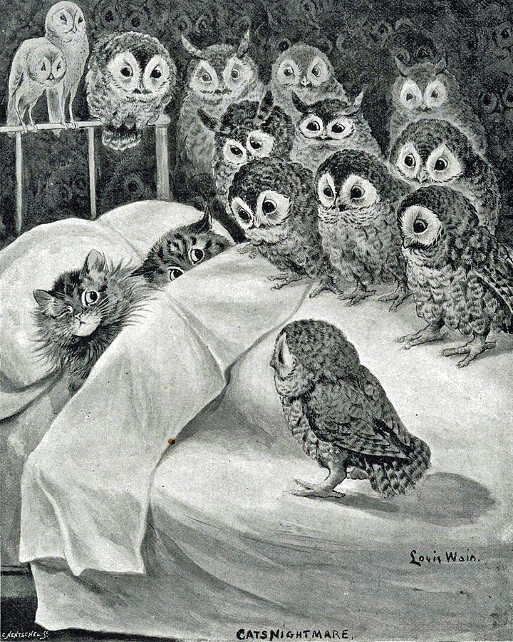 Cat's Nightmare by Louis Wain