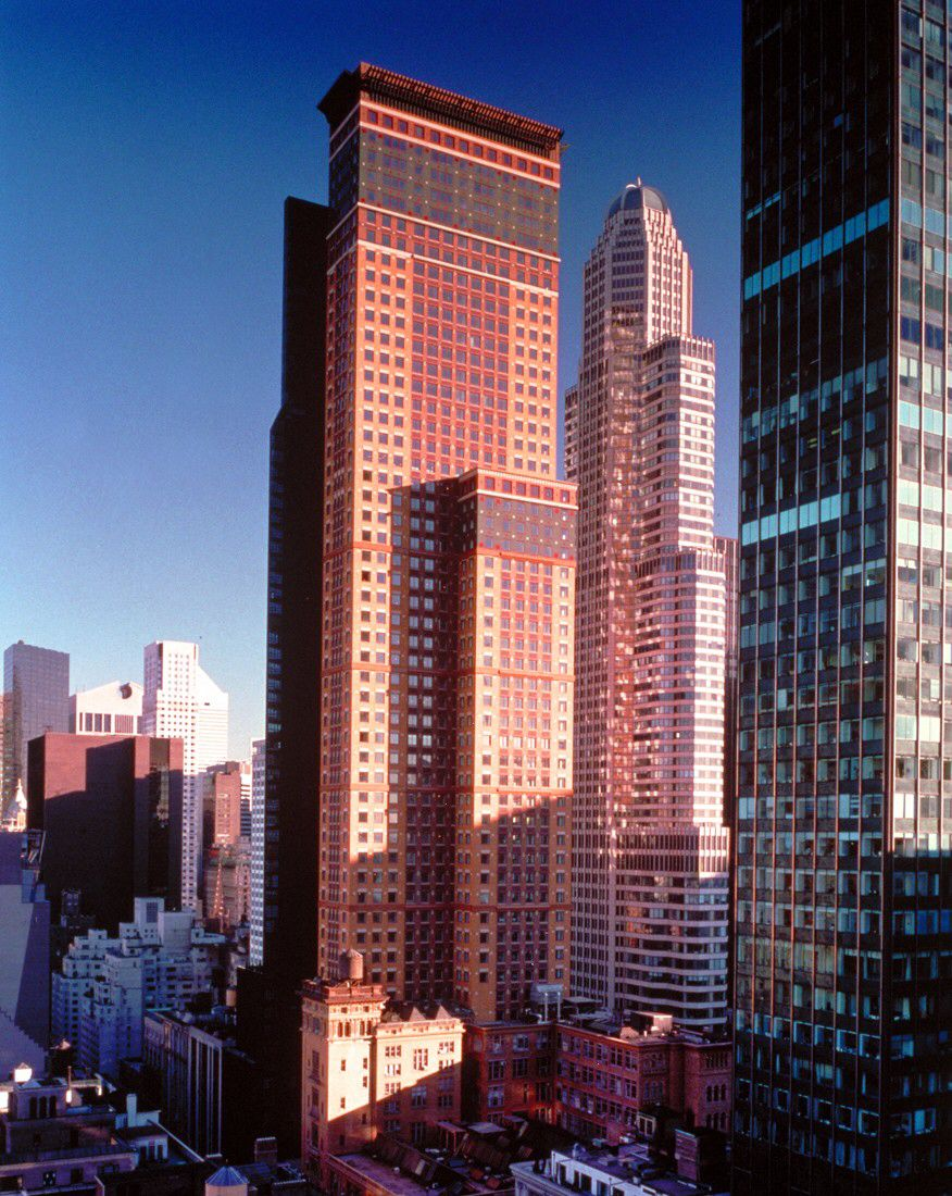 Carnegie Hall Tower by Cesar Pelli, 1991  Image from pcparch.com