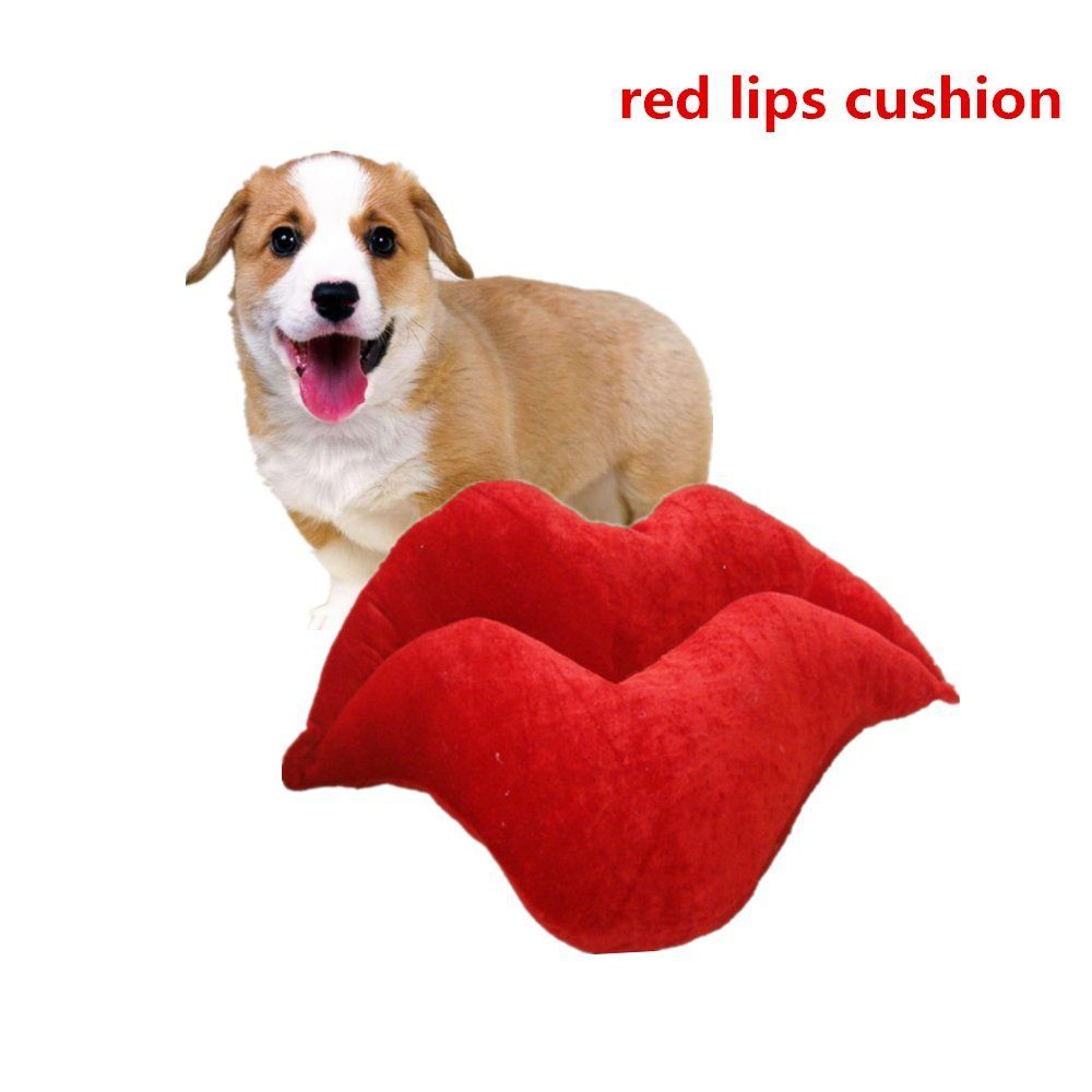 Pet Pillows Ji Speed Pleuche Red Lips Cat Cushion Mat Neck Pillow For Small Puppy And Kitten Comfort And Support Witho Animal Pillows Small Puppies Cat Cushion