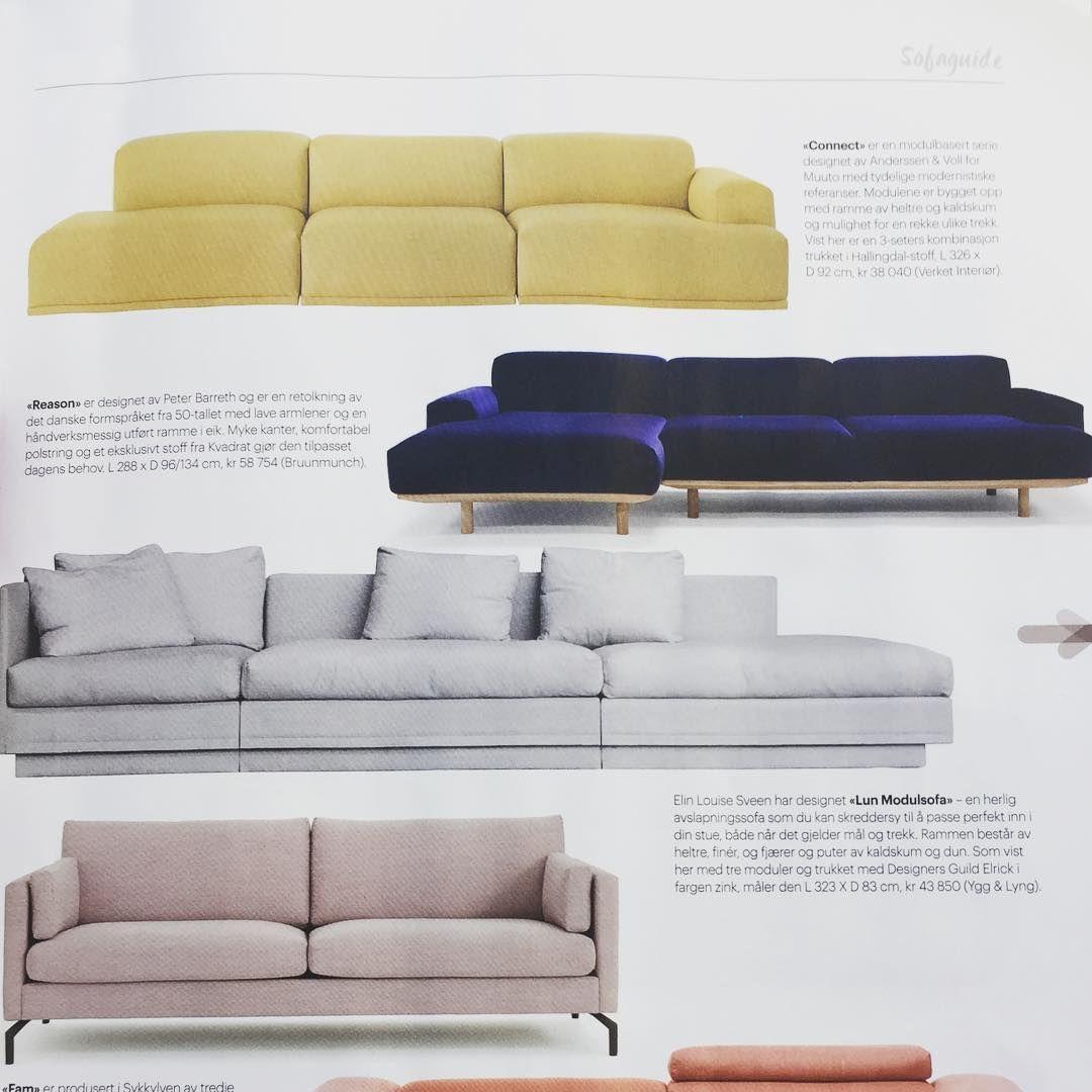 Our Reason sofa shown in Tara magasin in Norway #bruunmunch ...