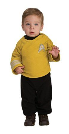 Star Trek Romper Captain Kirk, Kirk Print, Newborn