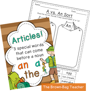 Free articles anchor chart  activity great way to teach  an and the also rh pinterest