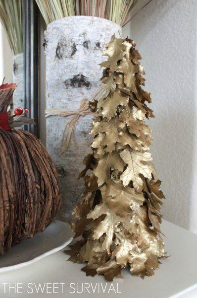The Sweet Survival Diy Gilded Leaf Tree Tutorial Christmas Diy Christmas Crafts Diy Christmas Tree
