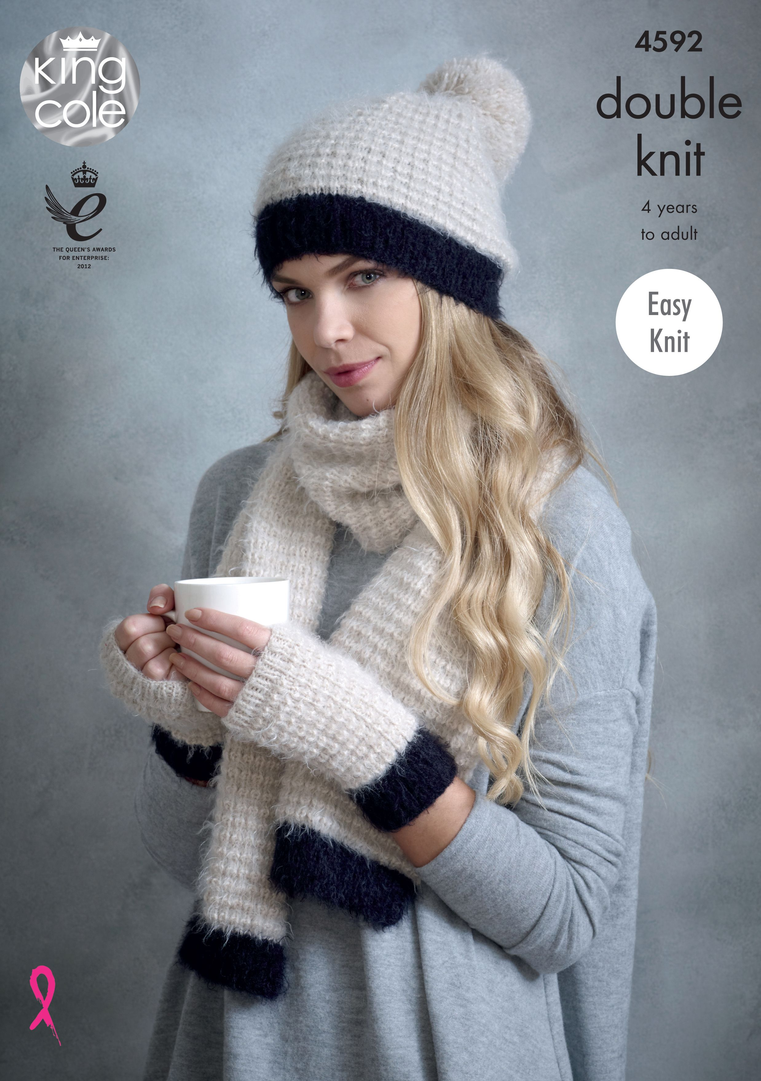 Stylish Comfortable Knitted Snood, Hats, Mitts & Scarf - King Cole ...