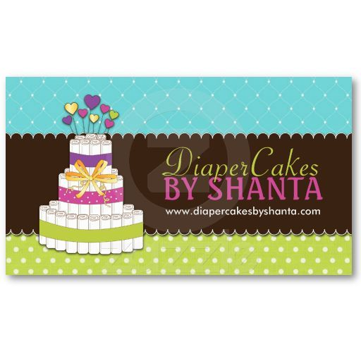 Diaper cake business cards cake business business cards and business diaper cake business cards reheart Choice Image