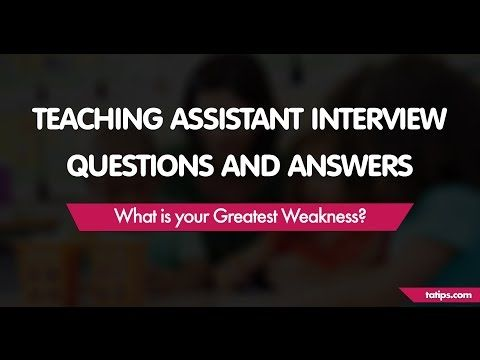 What is your Greatest Weakness? u2013 6 Sample Answers to this - assistant principal interview questions