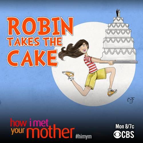 Robin eats cake ~ HIMYM ~ Season 9, Episode 11 ~ Bedtime Stories