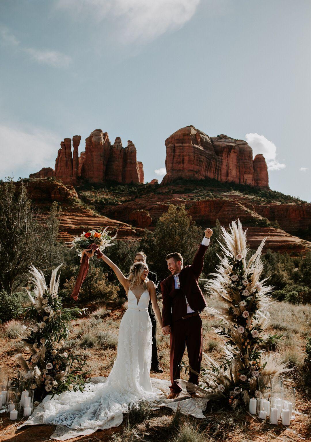 Elope elopement sedona arizona sedona elopement bride