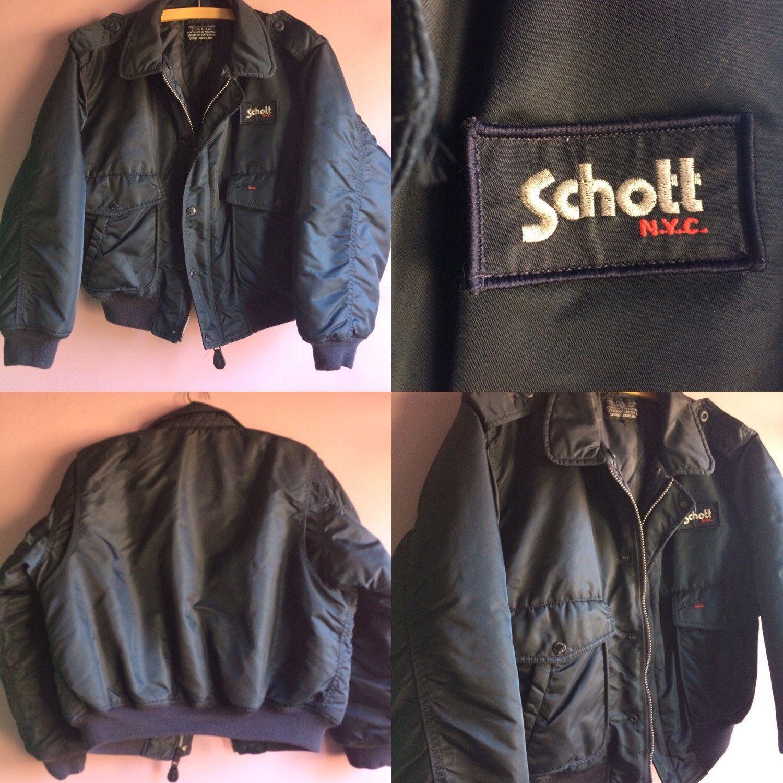 fb9a32a111 ... Coat  quality design 4a5ab e3a8c Vintage Schott bomber jacket ☝ ...