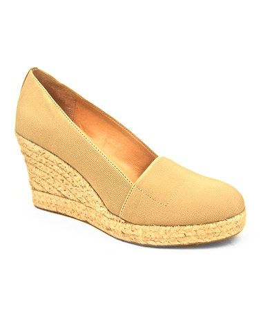Take a look at this Natural Tobago Wedge by J.LITVACK on #zulily today!