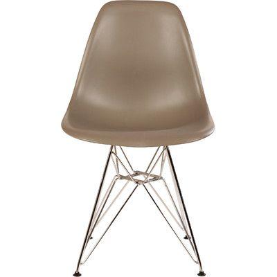Stilnovo The Mid Century Eiffel Side Chair Upholstery: Grey