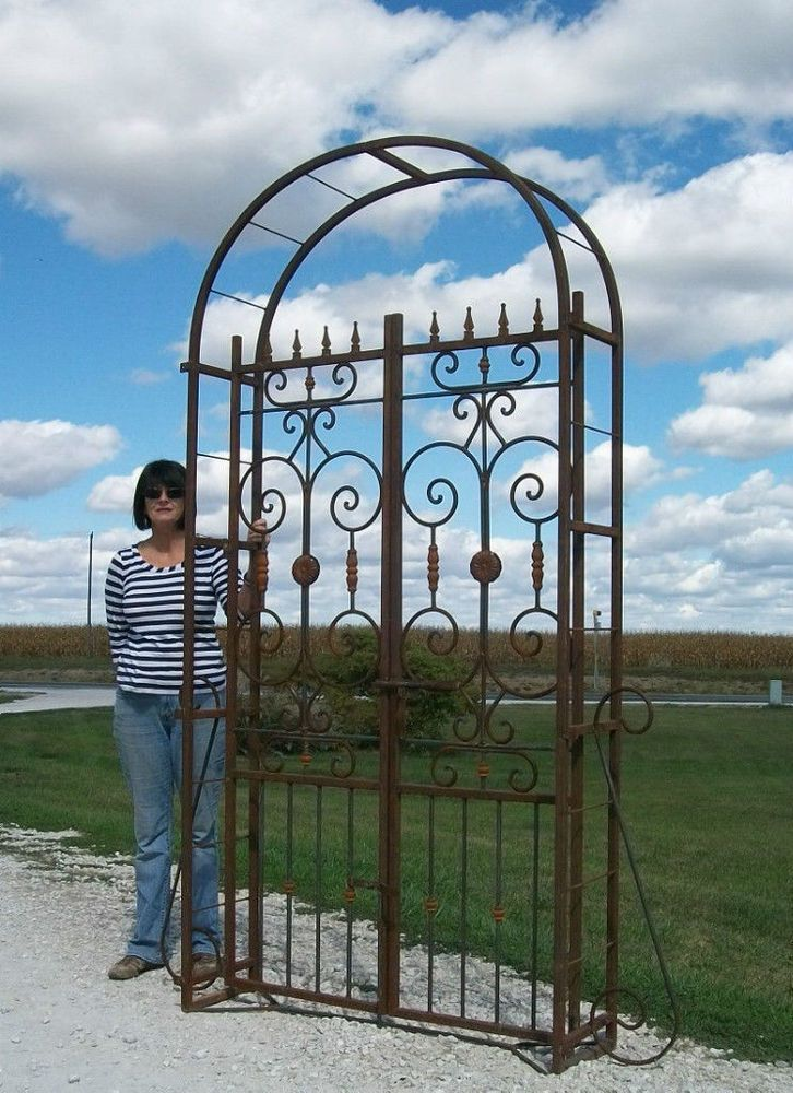 Really Big Metal Country French Garden Arbor Gate Wrought Iron